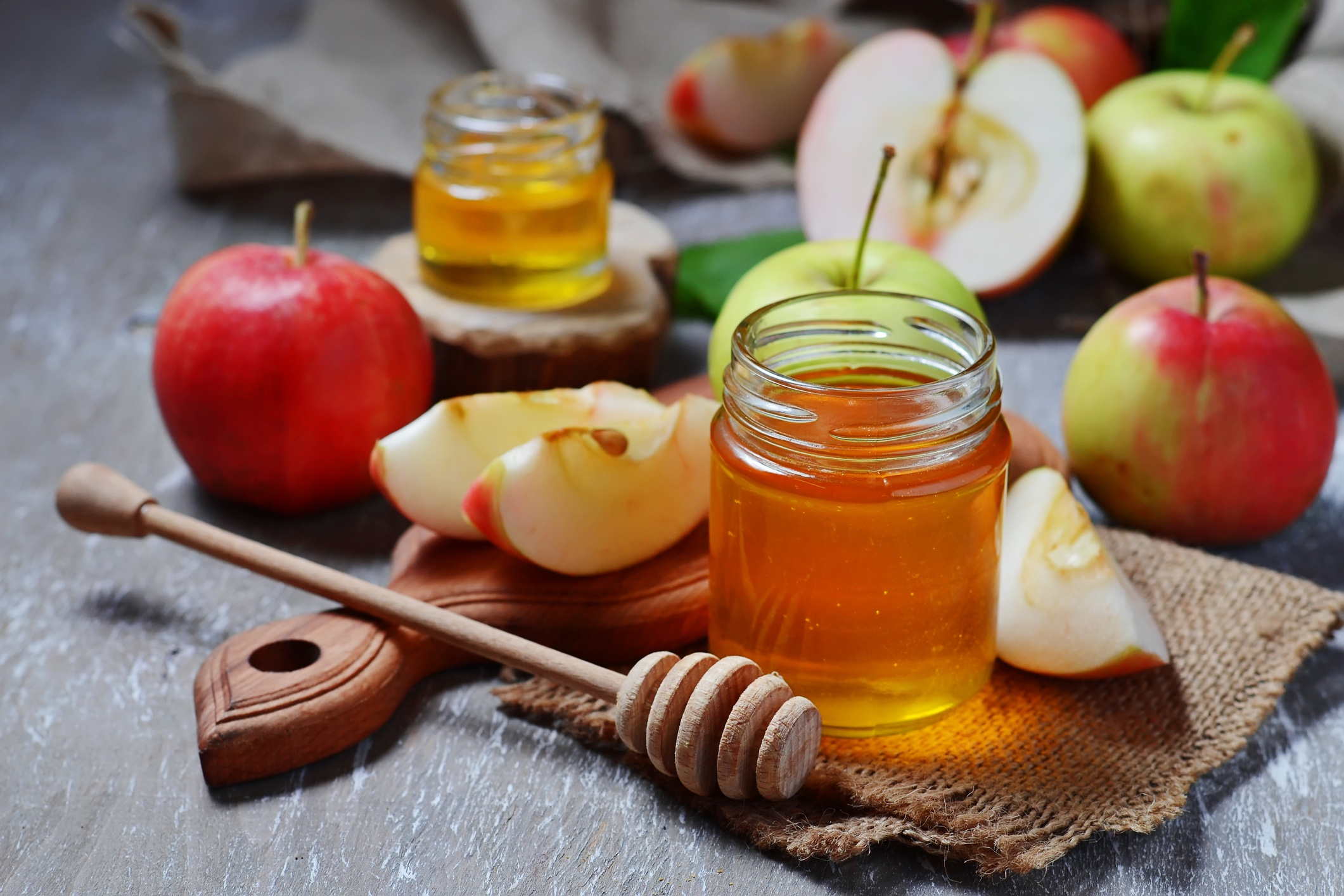 Apples with honey for Rosh Hashanah
