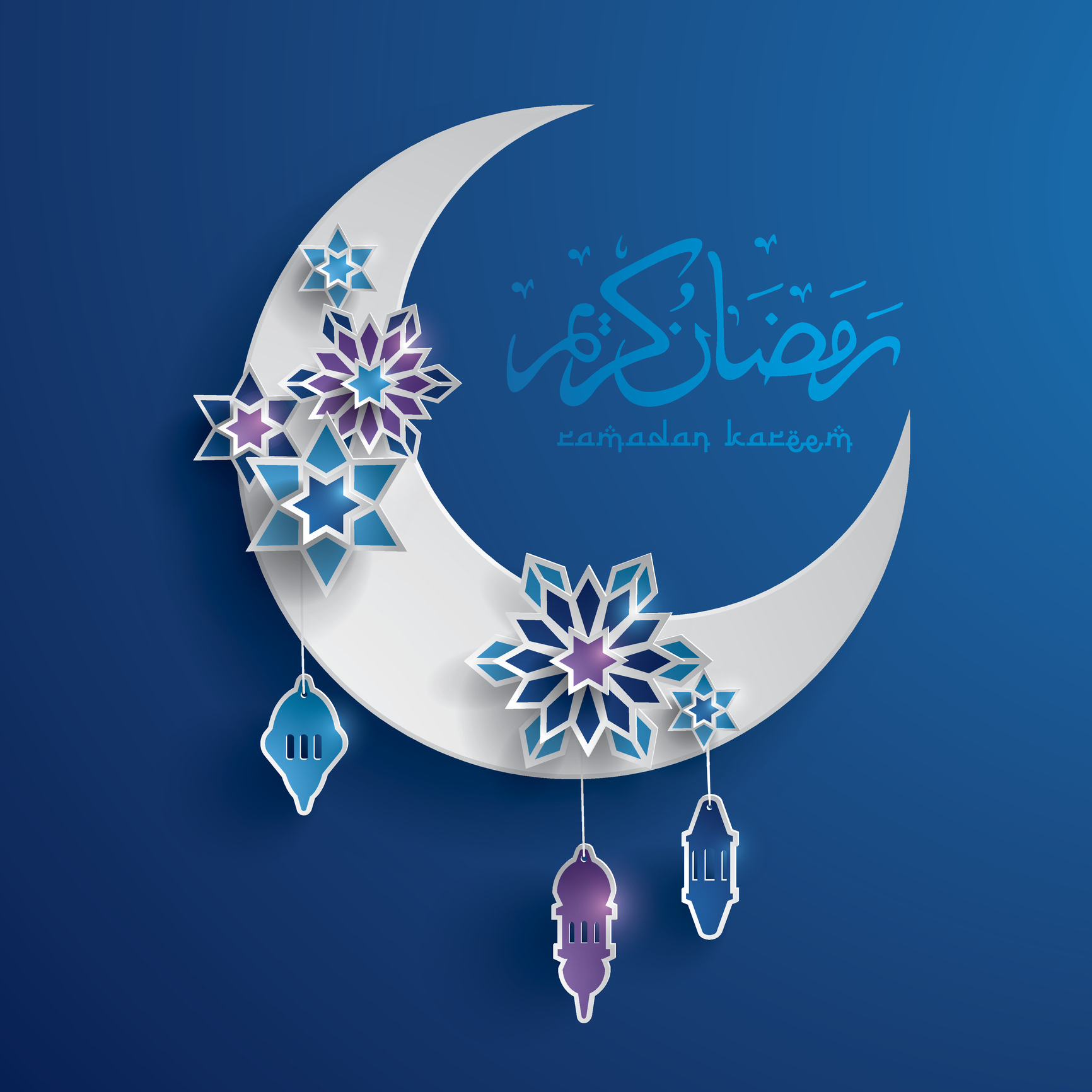 A depiction of the Islamic moon