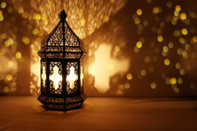 Decorative Lantern shining for Ramadan