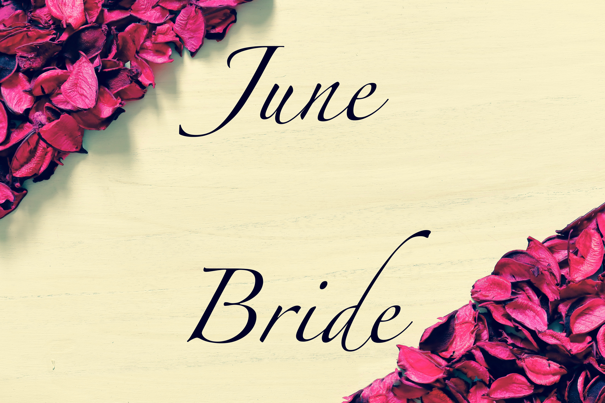 June bride floral decoration