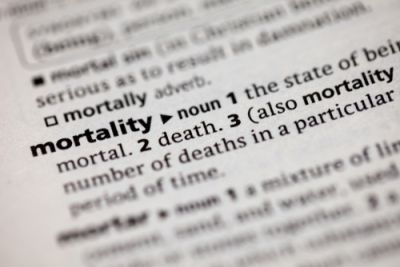 The definition of mortality; a topic addressed by Marcus Aurelius
