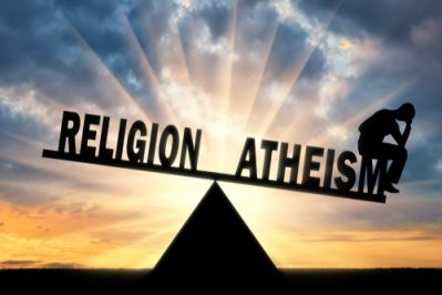 Atheism and religion balancing with a thinking person
