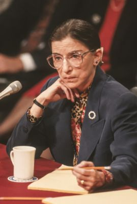 Ruth Bader Ginsburg, a Jewish supreme court justice