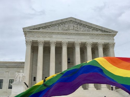 Supreme Court and Pride Flag