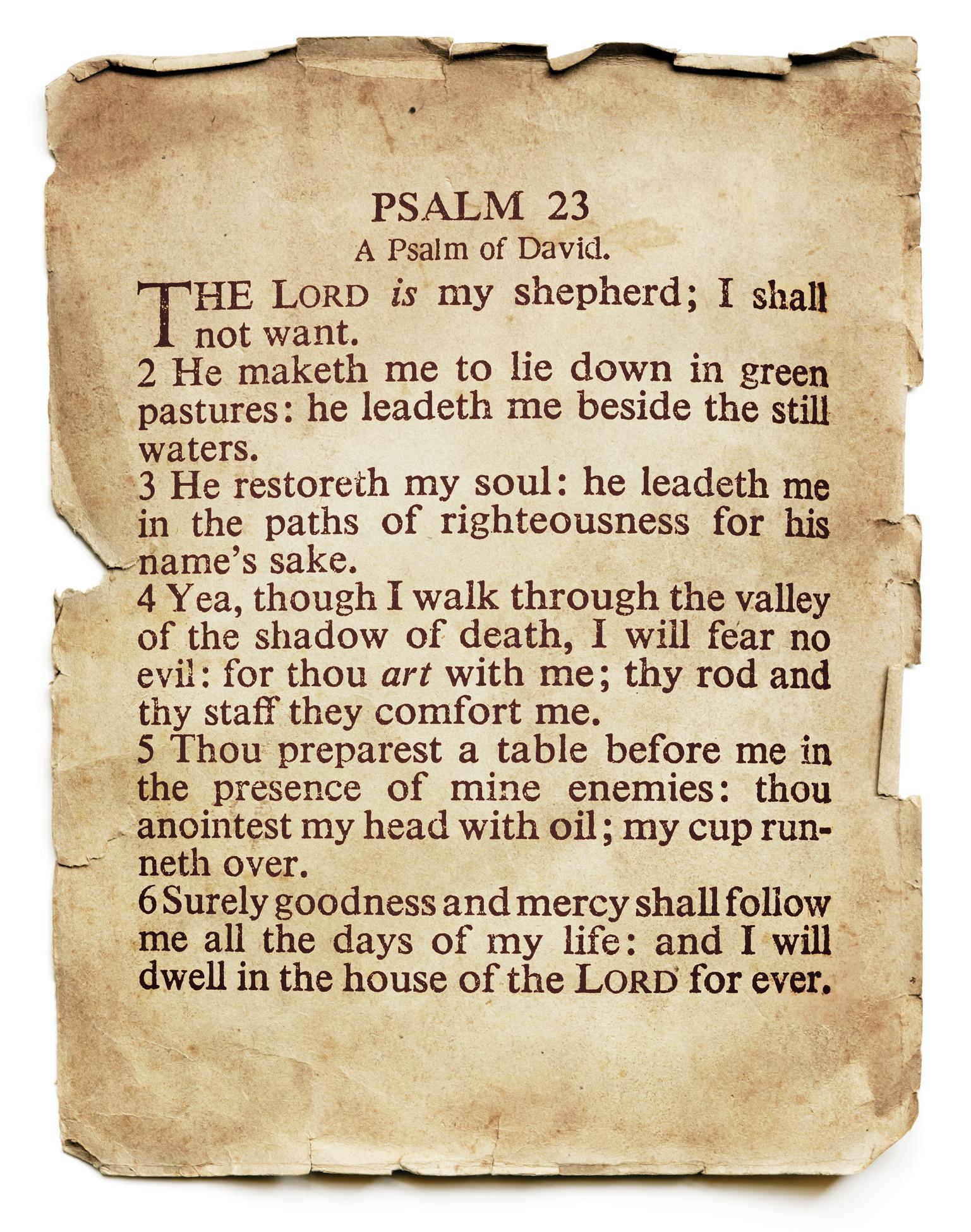 Psalm 23 In Pop Culture Universal Life Church