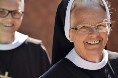 Two Nuns who may exchange ideas with a millennial