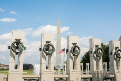 A World War II Memorial in Washington DC