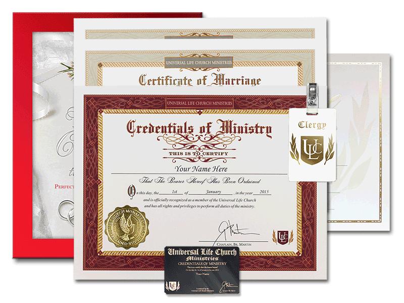 California Wedding Laws - Universal Life Church