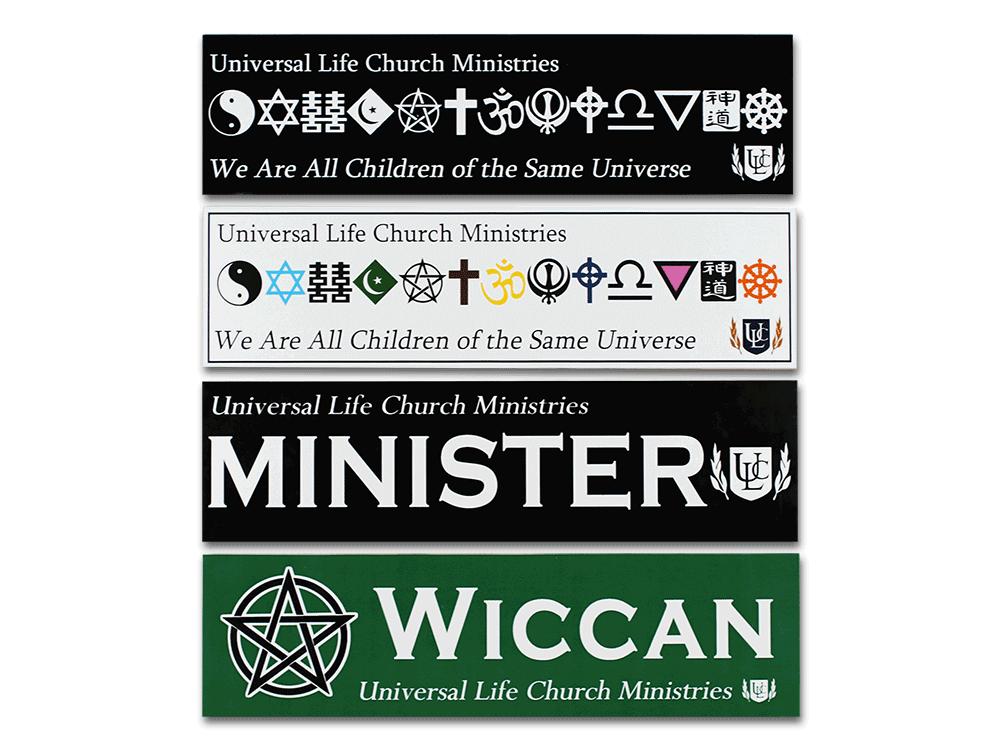 Car Bumper Sticker Universal Life Church