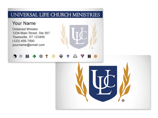 Minister Business Cards