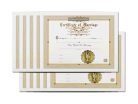 Classic Marriage Certificate 10 Pack