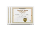 Classic Marriage Certificate 3 Pack