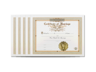 Classic Marriage Certificate 5 Pack