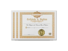 Holy Baptism Certificate 3 Pack