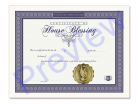 Home Blessing Certificate Single Pack