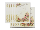Wedding Certificate - Vintage Floral 10 Pack