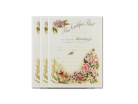 Wedding Certificate - Vintage Floral 3 Pack