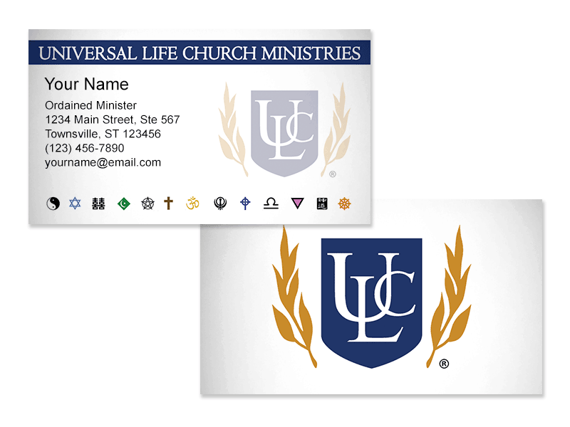 Minister Business Cards - Universal Life Church
