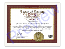 Doctor of Divinity Degree