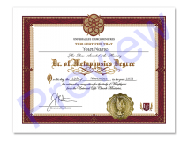 Doctor of Metaphysics Degree