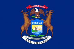 State Flag Of Michigan